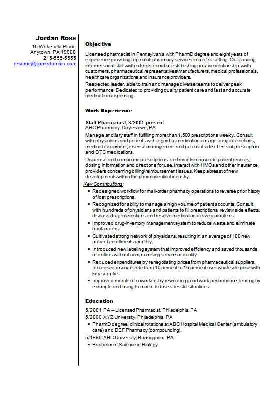 CV examples - free examples of CVs for different professions - example cv