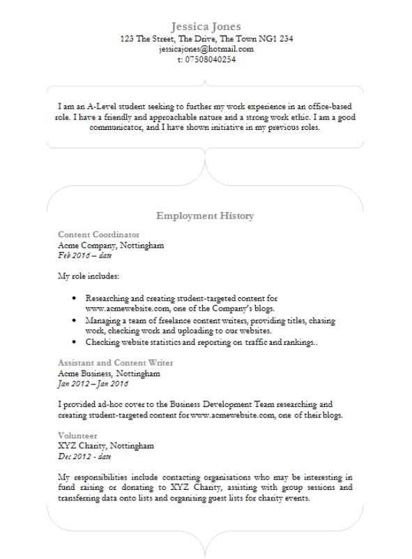 Curvacious CV template in MS Word - CV Template Master