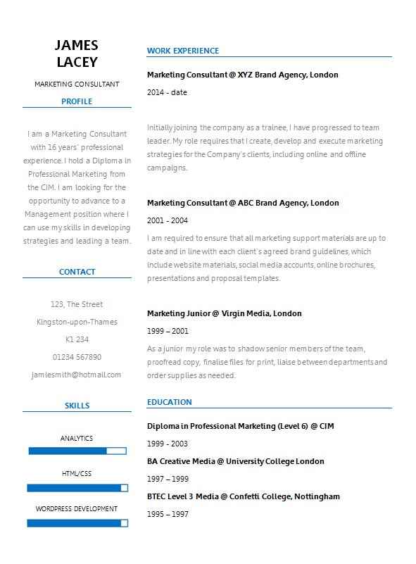 two col resume template word