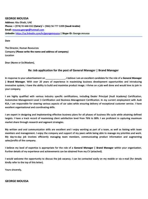 Cover Letter Writing Services UAE Cover Letter Writing Samples