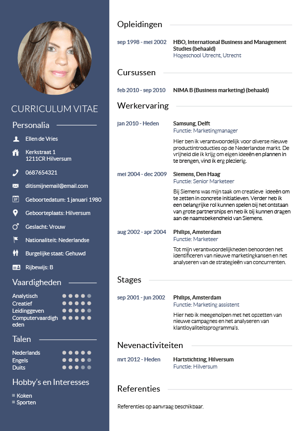 gratis cv downloaden