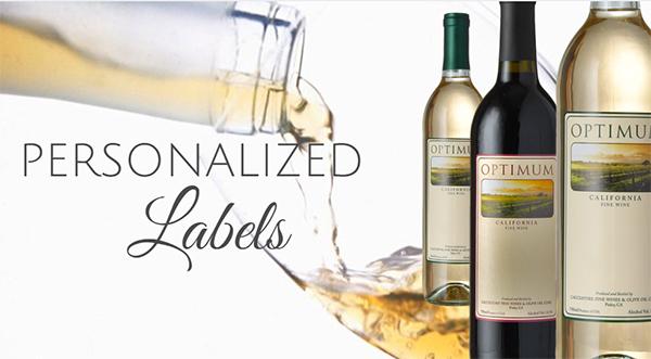 Optimum Personalized Label \u2013 Cacciatore Fine Wines  Olive Oil Corp