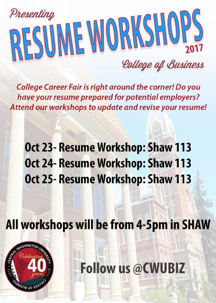 College of Business Resume Workshop