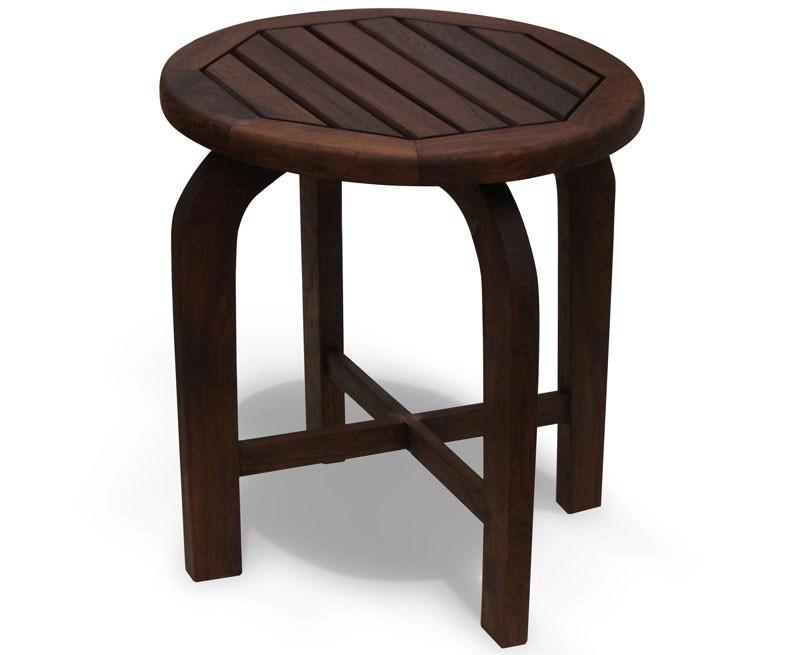Capri Antique Wood Round Table Teak