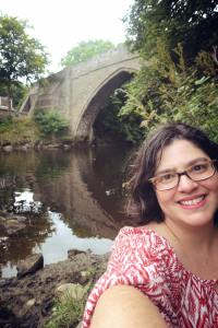 In front of the oldest bridge in Scotland