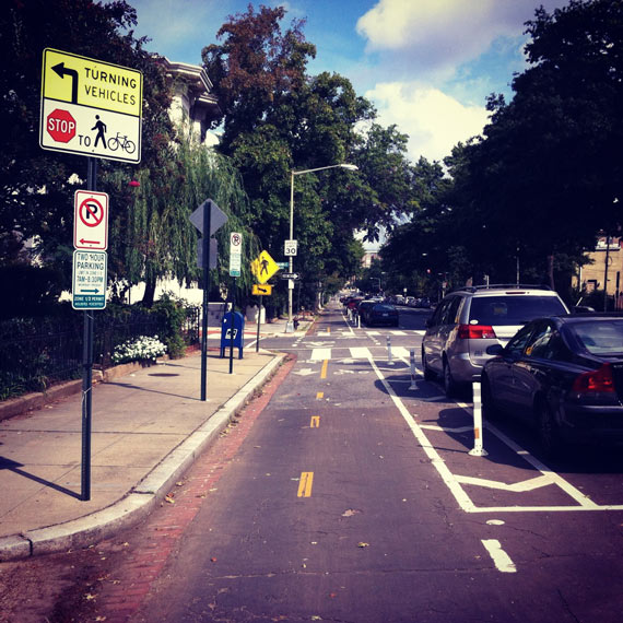 Cycleboredom | Return To #BikeDC - 15th Street Cycle Track