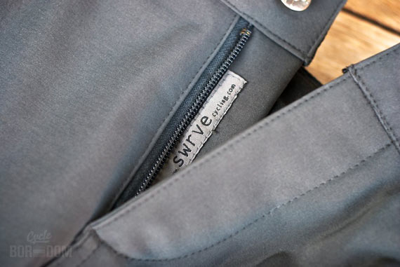 What I'm Riding: swrve Softshell Trousers | Cycleboredom - Zipper