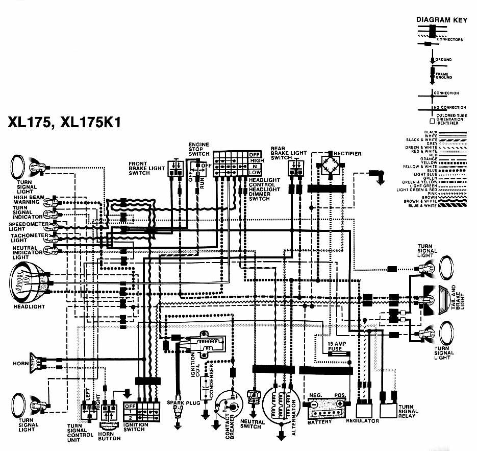 1984 honda xl600r wiring diagram