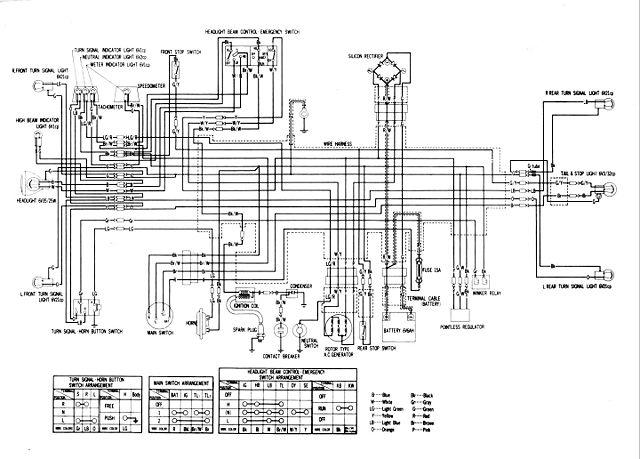 honda xl600r wiring diagram