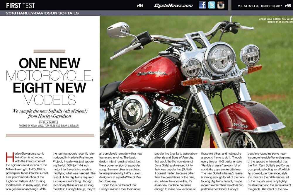 2018 Harley-Davidson Softails FIRST TESTS - Cycle News
