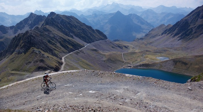 The old road well above Col du Tourmalet