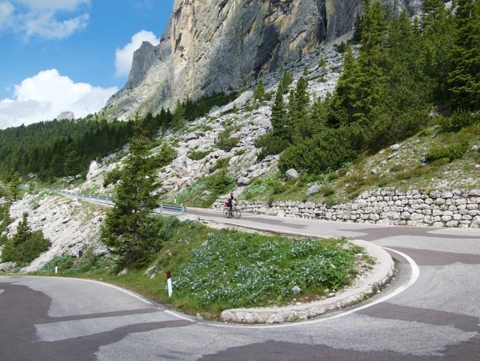 Descending Passo Sella