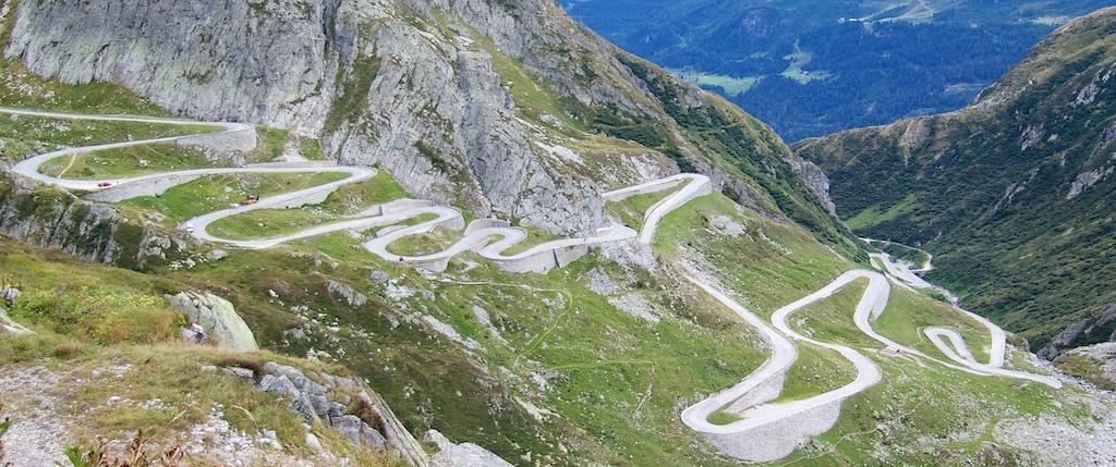 Passo San Gottardo Gotthardpass And Lago Di Lucendro