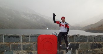 On the dam. Lac de Bissorte.