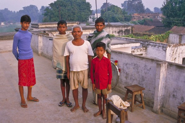 our host for the night with his pupils (we spent the night at a school)
