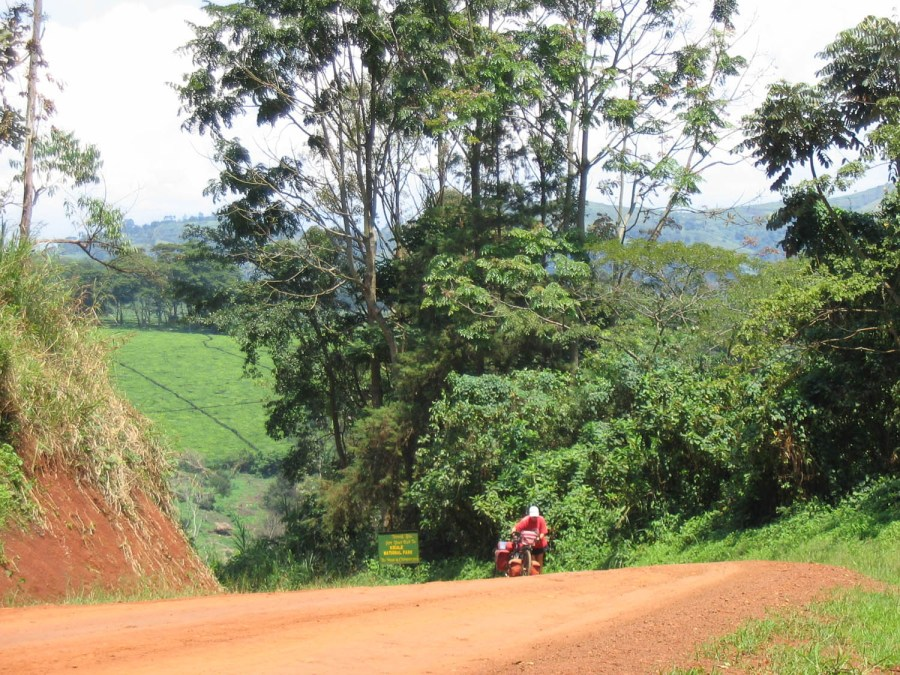 steep road to Kibale Forest NP