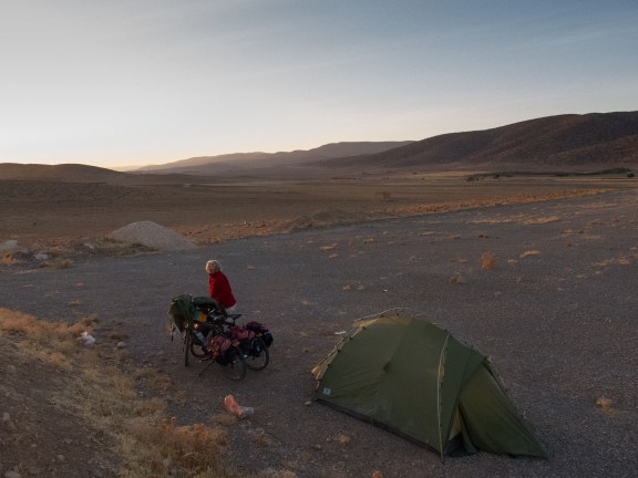 Most of the time it was easy to find a good camping spot