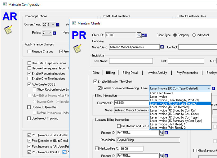 CYMA Version 17 Preview Enhanced Payroll and Billing Processes
