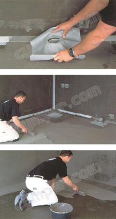 Membrana impermeable bicomponente Ardex 8+9 para suelos y paredes 03