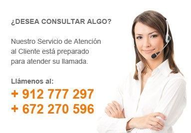 Nuestro servicio de atención al cliente está preparado para atender su llamada