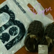 Mothercare shoes for baby Caleb