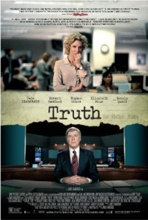 Cate Blanchett as Producer Mary Mapes, Robert Redford as Dan Rather
