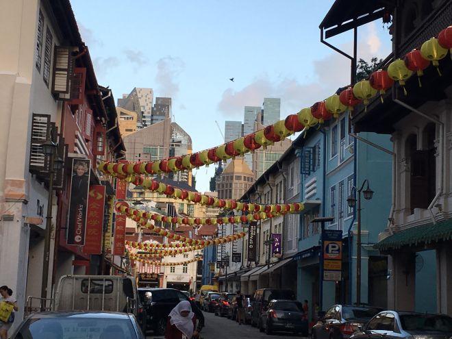Singapore twilght chinatown