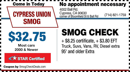 TERMS AND CONDITIONS - $3275 Smog Check - STAR STATION - coupon disclaimers