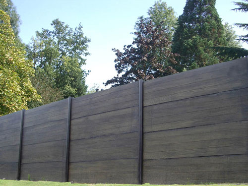 wood composite garden fence FOREXIA ®  ANTHRACITE silvadec FENCE