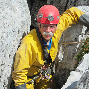 Mike on a cave/karst trip in Slovenia
