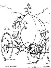 Colorare Cenerentola, disegno Zucca diventa carrozza