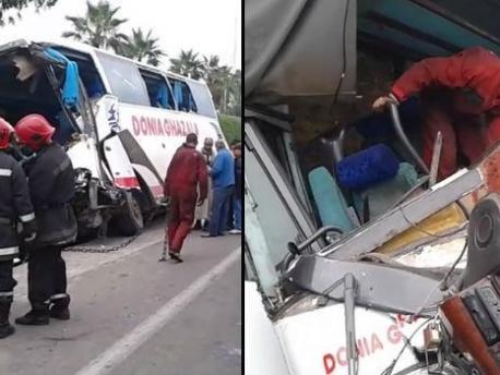 مرة أخرى حافلة قادمة من زاكورة كادت تحدت كارثة