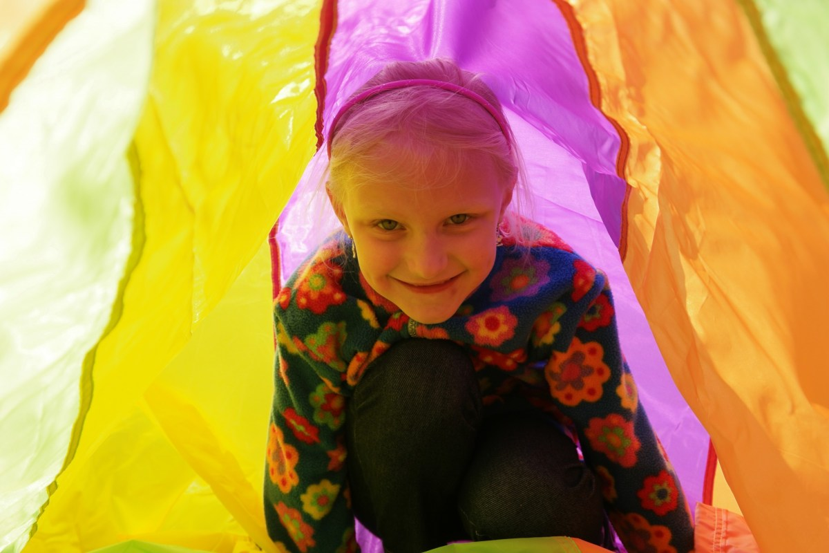 Getting Outside With Your Kids Using a Parachute!