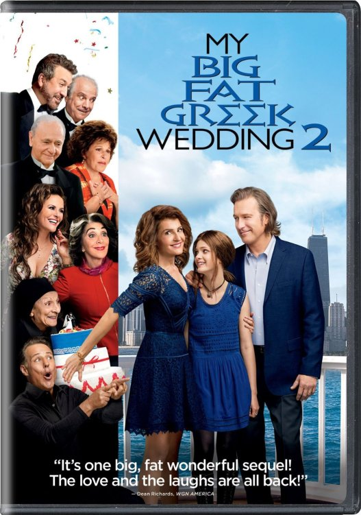 The Portokalos Family is back in My Big Fat Greek Wedding 2 for an even bigger fatter Greek wedding and it's now available on Blu-ray, DVD, and Digital HD!