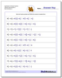 Mixed Fractions With Different Denominator