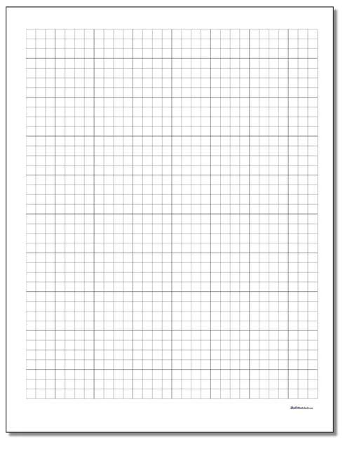 graph paper 10 per inch