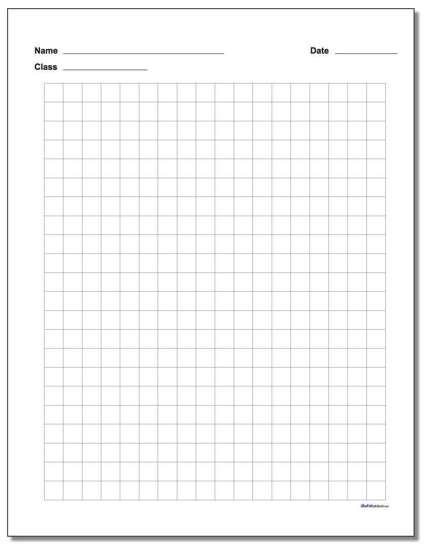 long division with graph paper