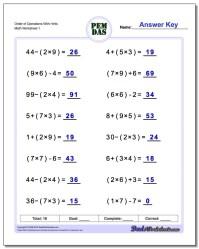 Search Results for Worksheets Order Of Operations Puzzle ...