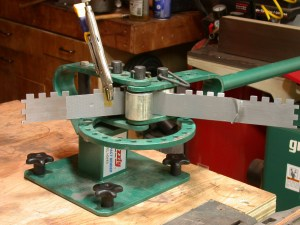Towell Miter – bending and peining the sidewall/bridge assembly