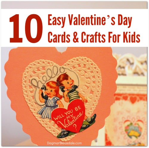easy Valentine's Day Crafts for kids, DagmarBleasdale.com