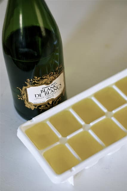 champagne ice cubes