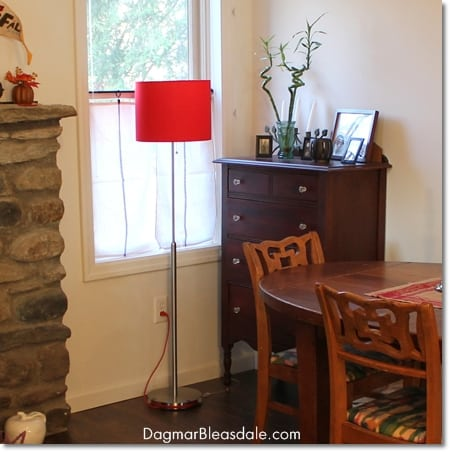 red Lamps.com lamp in cottage