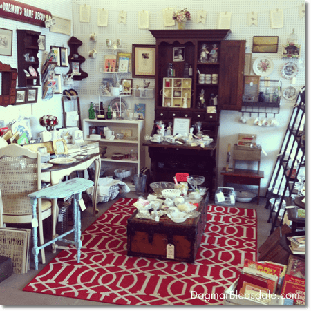 Dagmar's Home Decor booth at the Newburgh Vintage Emporium, NY