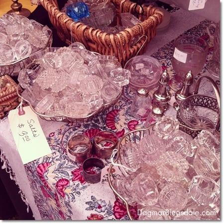 vintage glass salt dips