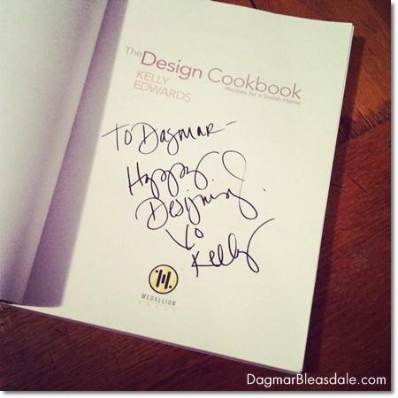signed Kelly Edwards The Design Cookbook