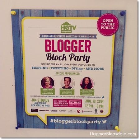 HGTV Blogger Block Party, #bloggerblockparty