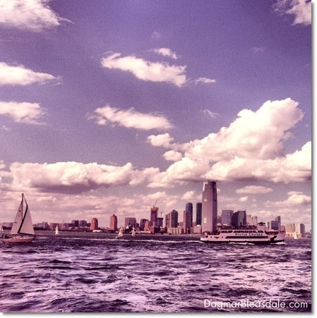 Manhattan Island, seen from the water, NYC
