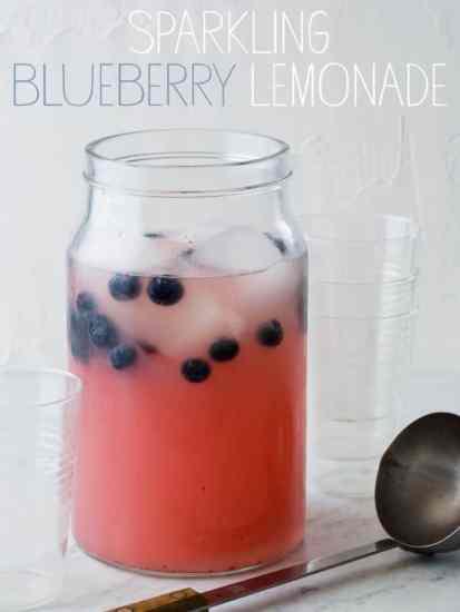 patriotic drink, Sparkling Blueberry Lemonade