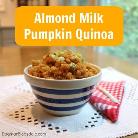 pumpkin quinoa recipe with Silk almond milk