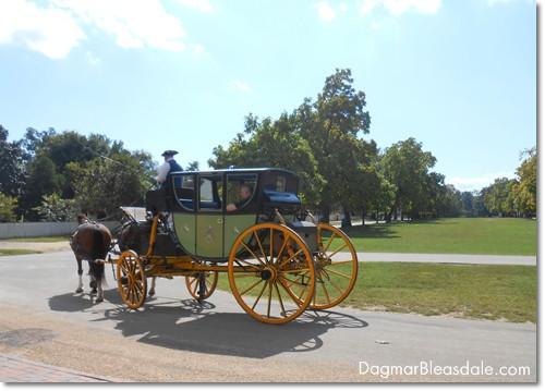 horse carriage in Colonial Williamsburg, VA